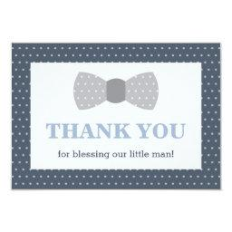 Little Man Thank You , Navy Blue, Gray