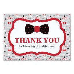 Little Man Thank You , Red, Black, Bow Tie