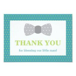 Little Man Thank You , Teal, Lime Green, Gray