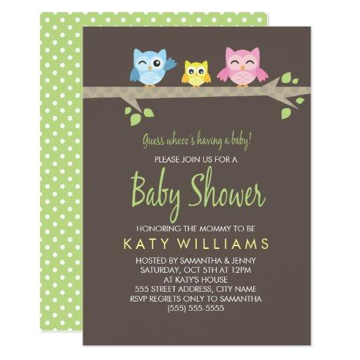 Little Owls  Invite