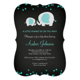 Little Peanut Chalkboard Blue  Invite
