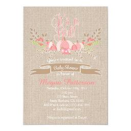 Little Pink Pumpkin Baby Shower  Burlap
