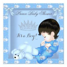 Little Prince Baby Shower Boy Blue Bunny