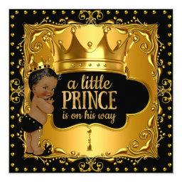 Little Prince Baby Shower Gold Foil Crown Ethnic
