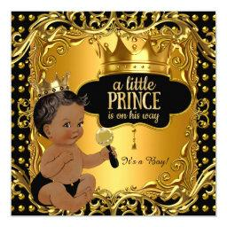 Little Prince  Gold Rattle Ethnic