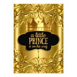 Little Prince is on his way Baby Shower Golden