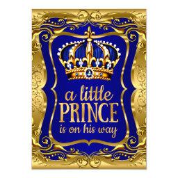 Little Prince on his way  Gold Blue