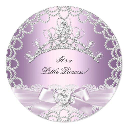 baby shower little princess baby shower girl pink lilac pearl card