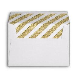 Little Princess Envelope, Faux Gold Glitter Envelope
