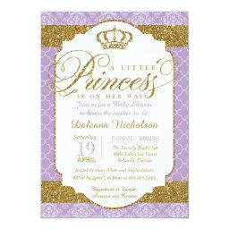 Little Princess Royal Purple and Gold Baby Shower