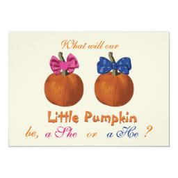Little Pumpkin Baby Gender Reveal