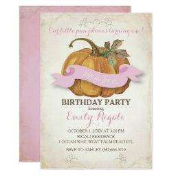 Little Pumpkin Birthday Party  - Girl