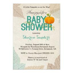 Little Pumpkin- Fall Themed Baby Shower