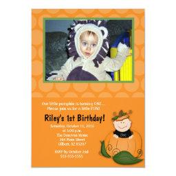 Little Pumpkin Halloween Photo Birthday