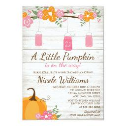 Little Pumpkin Mason Jars Fall Girl Baby Shower