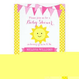Little Sunshine Pink Yellow Bunting
