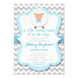 Little Sweet Lamb Boy Baby Shower