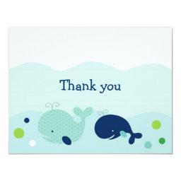 Little Whale Nautical Thank You Note
