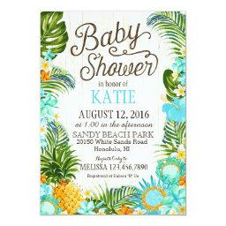 Luau Hawiian Beach Rustic Baby Shower