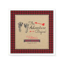 Lumberjack Buffalo Plaid Baby Shower Napkin