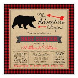 Lumberjack Buffalo Plaid Boys Bear