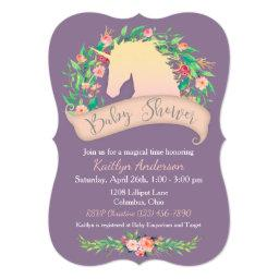 Magical Unicorn Floral Baby Shower