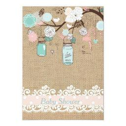 Mason Jar and Burlap