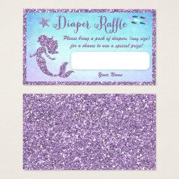 Mermaid Baby Shower Diaper Raffle Tickets