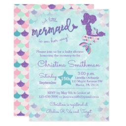 Mermaid Baby Shower  for a Baby Girl