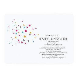 Minimalist Colorful Baby Shower  Rounded