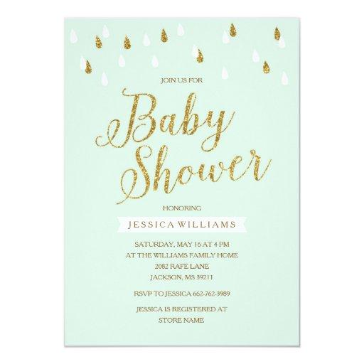 Glitter Baby Shower Invitations is one of our best ideas you might choose for invitation design