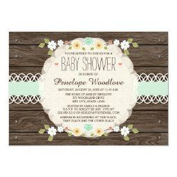 MINT RUSTIC FLORAL BOHO BABY SHOWER