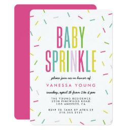 Modern Baby Sprinkle Shower Invitations