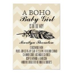 Modern Bohemian Tribal Feather Chevron