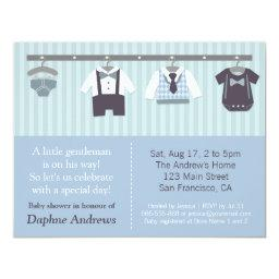 Modern Gentleman Baby Boy Shower