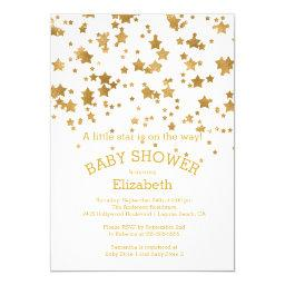 Modern Gold Little Star Baby Shower