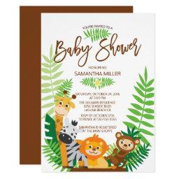 Modern Jungle Safari Baby Shower