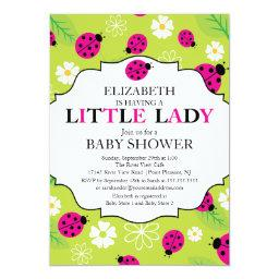 Modern Little Lady Pink Ladybug Baby Shower