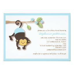 Modern Monkey Sweet Boy Baby Shower