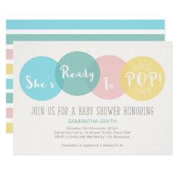 Modern She's Ready to Pop Baby Shower