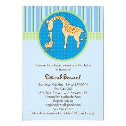 Mom and Baby Giraffe Baby Boy Shower