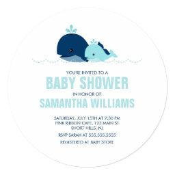 Mom and Baby Whale Boy Baby Shower