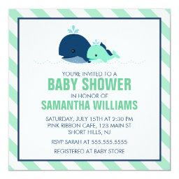 Mom and Baby Whales Baby Shower