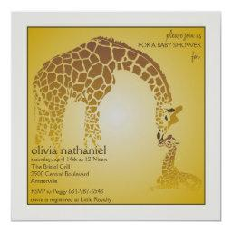 Mother Baby Giraffe - Baby Shower