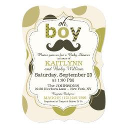 Mustache and Polka-dot Boy  Invites