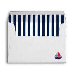 Nautical Ahoy It's a Boy Baby Shower Envelope