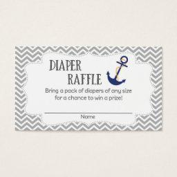 Nautical Anchor  Diaper Raffle Tickets
