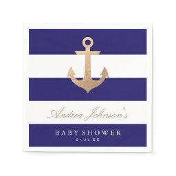 Nautical Navy  Napkin