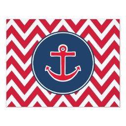 Nautical Red Anchor Party Shower