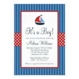 Nautical Sailboat Stripes Baby Shower